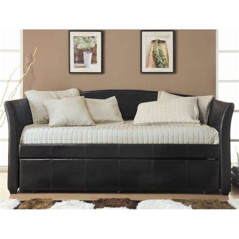 trent home meyer upholstered twin size daybed in dark