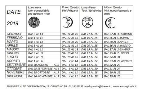 Calendario Lunare Settembre 2017 Calendario Lunare Per Imbottigliare Vino 2017