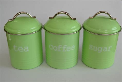 enamel kitchen canisters enamel retro kitchen canisters assorted colours tea