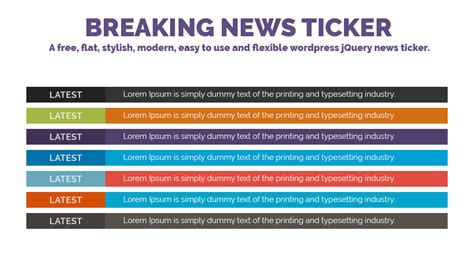 news in breaking news ticker plugins