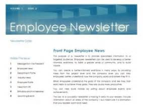 Employee Newsletter Templates by Employee Newsletter Template Employee Newsletter
