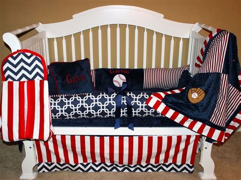 Boys Custom Baby Bedding 6 Pc Set Quot Take Me Out To The Baseball Baby Bedding Crib Sets