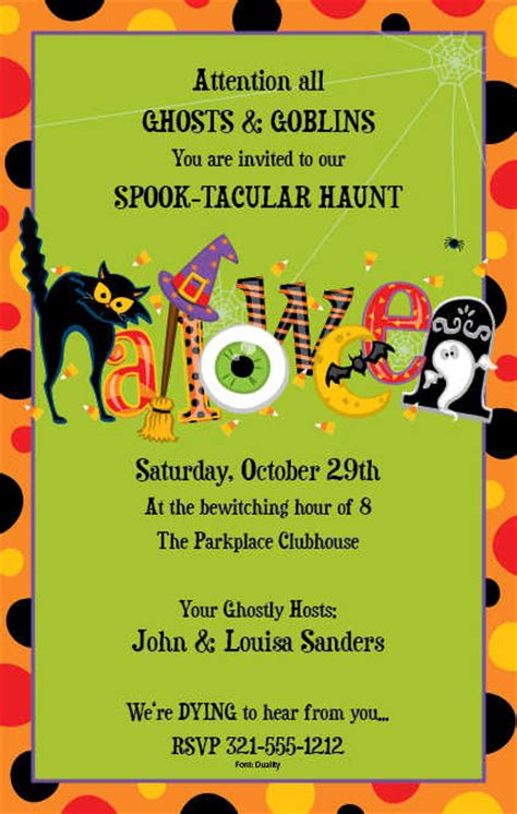 design halloween party invitation card halloween paper