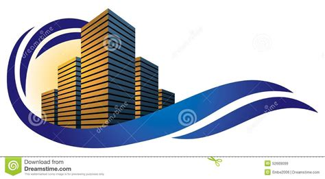 3d Exterior Home Design Free Download building city logo stock vector image of real architect
