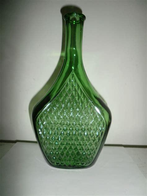 quiero unos barcos se botella hermosa botella de vidrio verde hecha en italia 280 00
