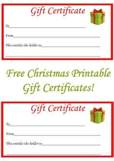 gift certificate template  word format