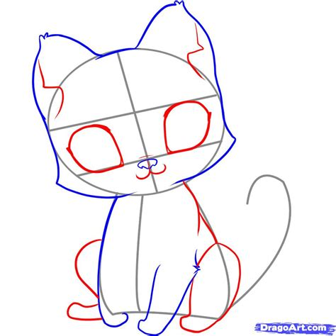 Easy Steps To Draw A Cat by Draw An Easy Kitten Step By Step Drawing Sheets Added