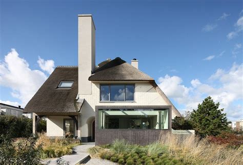 idea home lovely thatched roof seaside residence in the netherlands