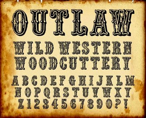 tattoo fonts western pin western outlaw font on