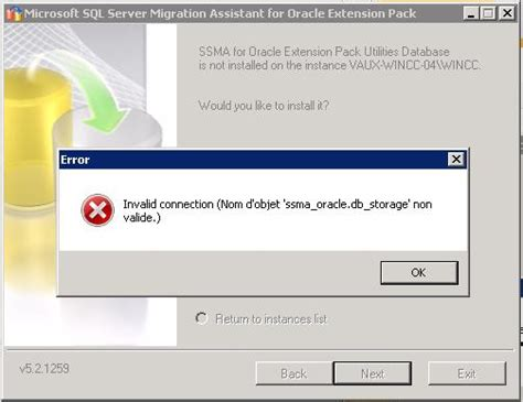 invalid name pattern oracle problems during the migration of the data from oracle to