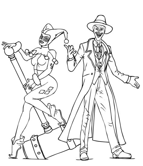 harley quinn and joker coloring pages harley quinn coloring pages best coloring pages for kids