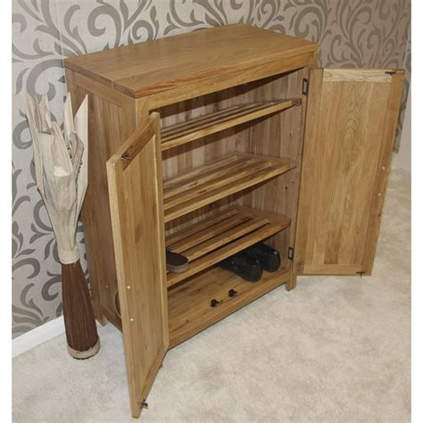 Solid Oak Shoe Cupboard solid light oak shoe cupboard click oak