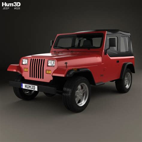jeep wrangler yj 1987 3d model hum3d