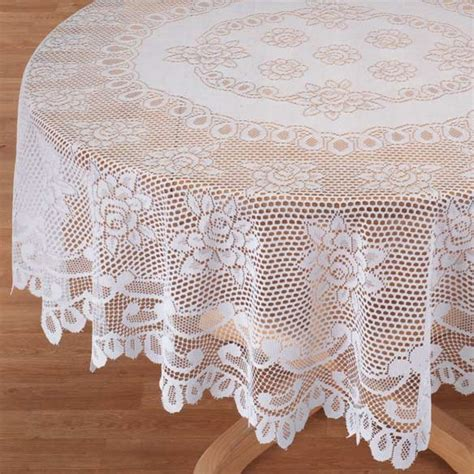 60 Inch Round Dining Room Tables white rose lace tablecloth white lace tablecloth