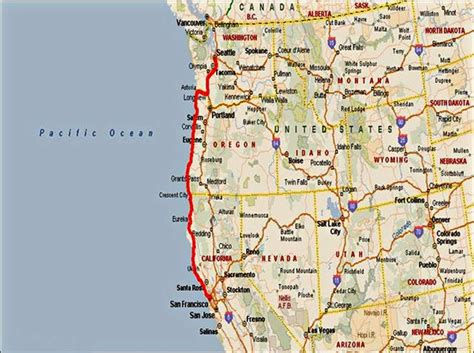 map of oregon pacific coast i care i cure i cycle quot coasting quot from seattle to san