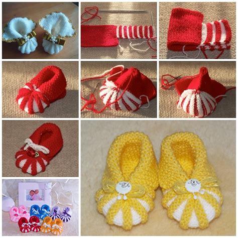 diy booties wonderful diy easy knitted baby booties