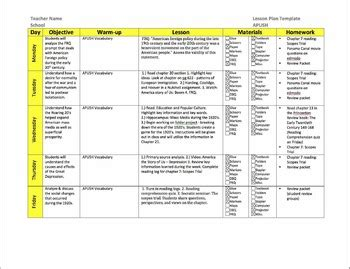 lesson plan template history ap u s history lesson plan templates by william pulgarin