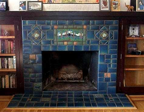 craftsman fireplace tile mission style fireplace bungalow style