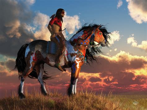 native american horse art
