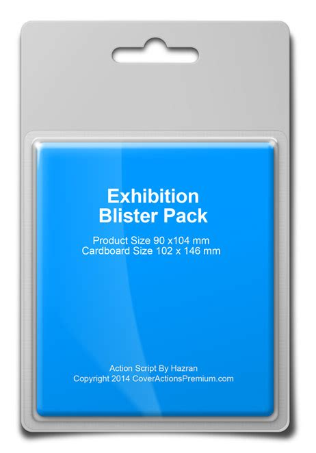 blister card template blister pack mock up script cover actions premium