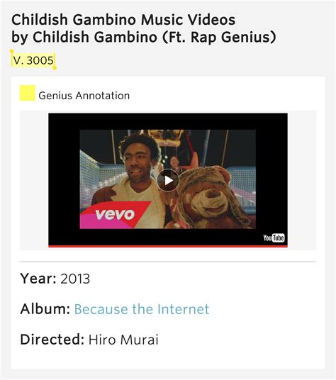 childish gambino year 3005 v 3005 childish gambino music videos meaning