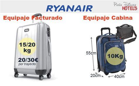equipaje de mano con ryanair precios de maletas vuelos a disneyland