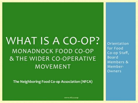 what is a co op our co op and the wider co operative movement