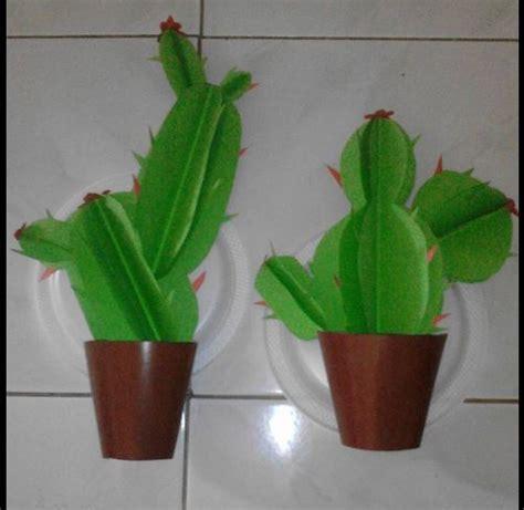membuat bunga dari kertas untuk anak tk kaktus berbahan origami dekorasi kelas yang sangat bagus