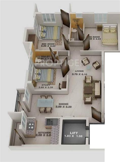 1000 sq ft apartment 1000 sq ft 3 bhk 3t apartment for sale in blue print
