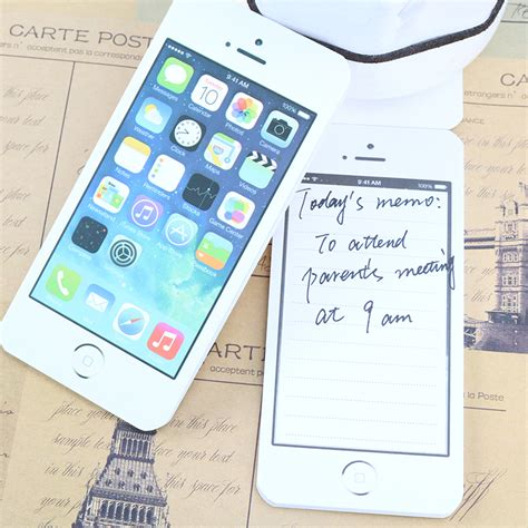 How To Make A Paper Cell Phone - white fashion sticky post it note paper cell phone shaped