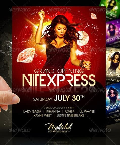 flyer templates 30 premium party advertisement designs