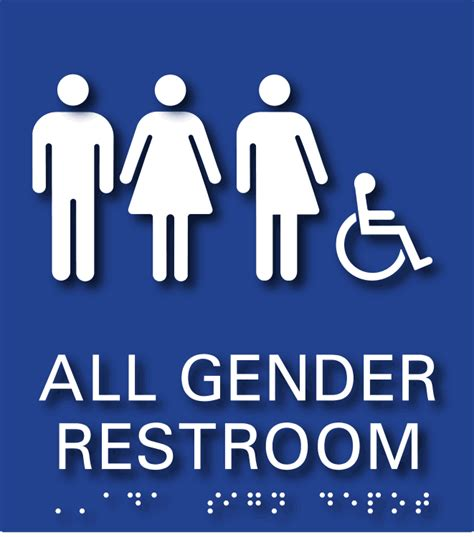 all gender bathroom sign all genders and wheelchair symbol restroom ada signs