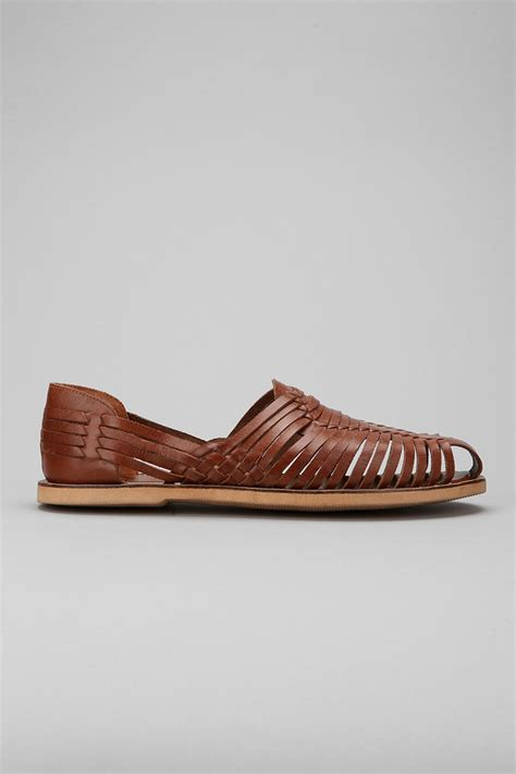 outfitters huarache leather sandals in brown for