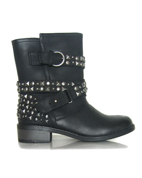 studded boots vegan showstopper studded biker boots laundry