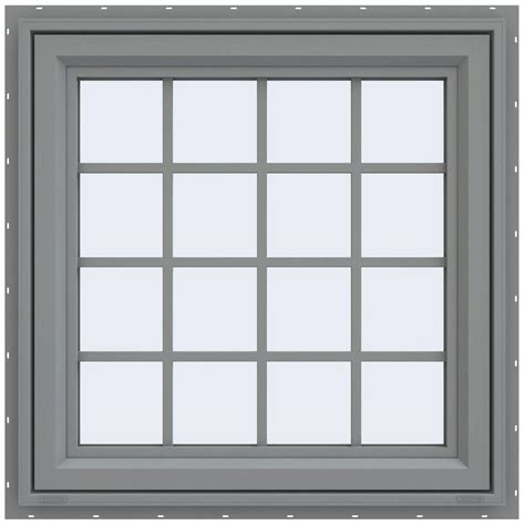 awning window screen tafco windows 48 in x 48 in vinyl casement window with