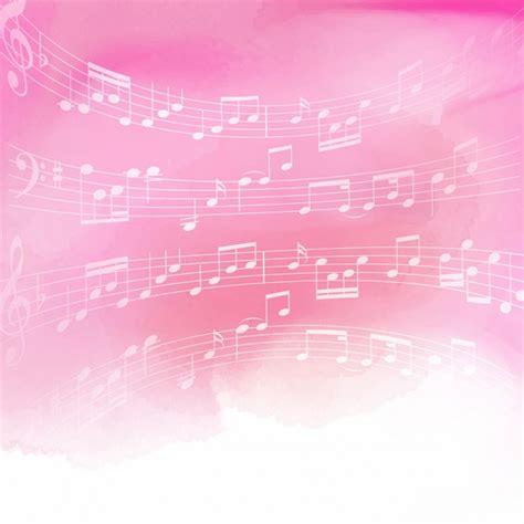 imagenes de rosas musicales notas de la m 250 sica sobre un fondo de color rosa de la