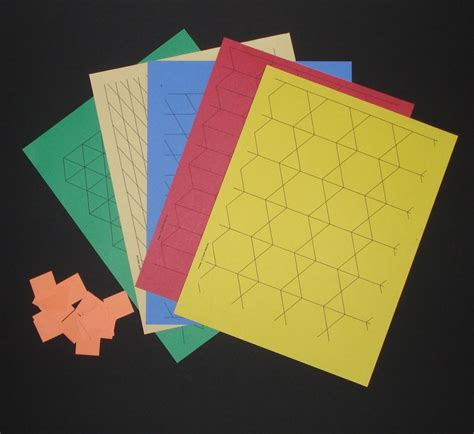 Paper Pattern Blocks | pattern block printables to make paper pattern blocks and