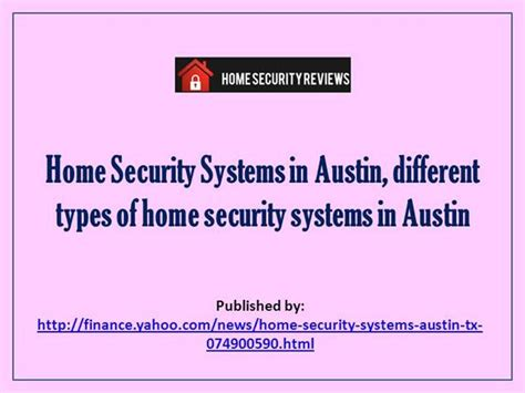 home security systems in different types of home