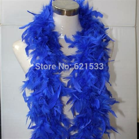 Blue Goose Feathers Scraf Leher boa hair reviews shopping boa hair reviews on aliexpress alibaba