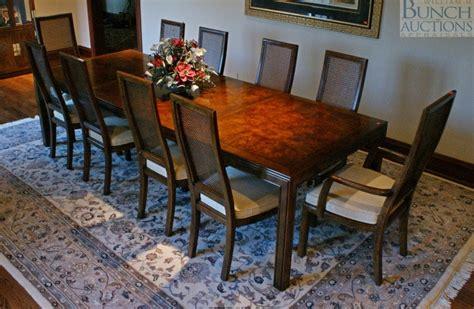 henredon asian style dining room table   cha