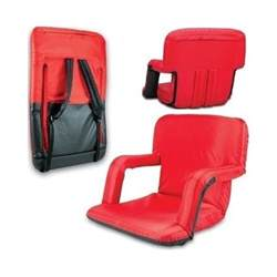 stadium seat cushions red recliner portable bleacher chair back arms folding pad ebay