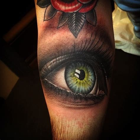 tattoo eye leg unreal realistic eye tattoo on arm best tattoo ideas gallery