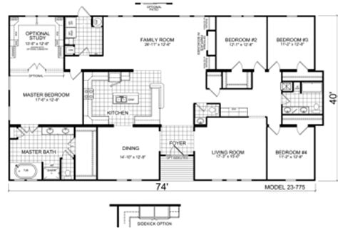 2500 Sq Ft Floor Plans by Triple Wide Mobile Homes Factory Expo Home Centers