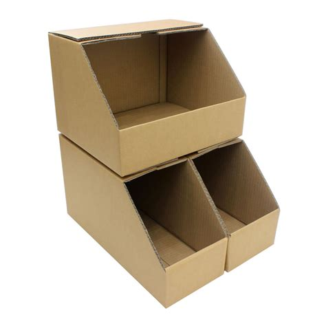 storage bins wide heavy duty picking cardboard shelf
