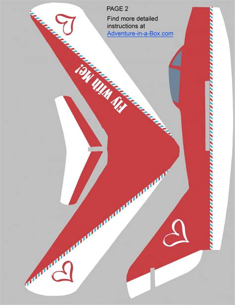 printable valentine paper airplane free printable valentine foam glider airplane pattern