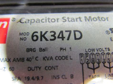 dayton 6k347d general purpose electric motor capacitor start 1hp 3450rpm 115 230 ebay