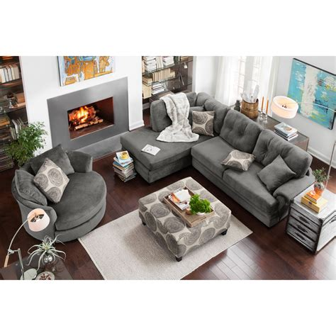 decorating your first home cordelle 2 piece left facing chaise sectional gray