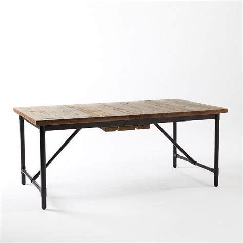 emmerson industrial expandable dining table west elm