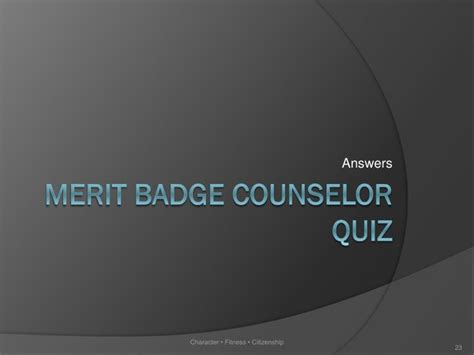 sycamore district merit badge counselors ppt ward merit badge counselor training powerpoint