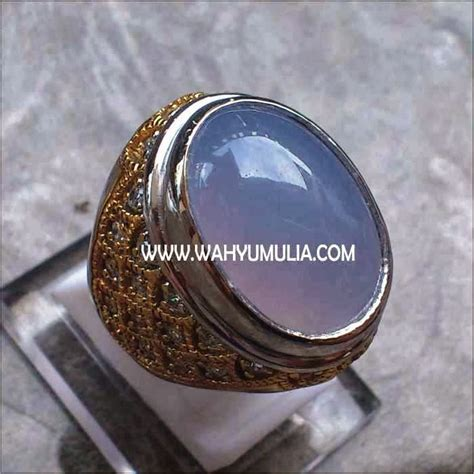 Spritus Muda Anggur batu cincin blue chalcedony kode 136 wahyu mulia
